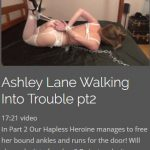 Ashley Lane Walking Into Trouble 2
