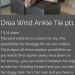 Drea Wrist Ankle Tie 1