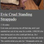 Evie Cruel Standing Strappado
