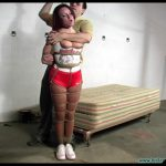 Hooters Girl Brandy Hogtie Suspended Part 1