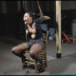 Sassy is Captured Manhandled Belt Whipped Clamped Tounge Part 3