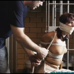 Smalltown Jail Rinn Hogcuffed Forced to Excerise then Hogtied Part 1